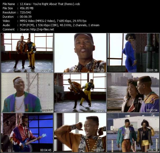 Screenshot of Music Video Kiara - You're Right About That (Remix)