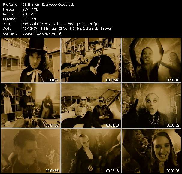 Screenshot of Music Video Shamen - Ebeneezer Goode