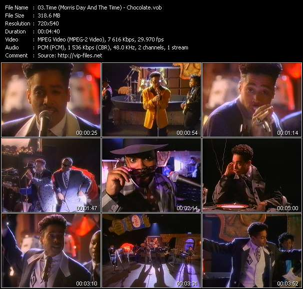 Screenshot of Music Video Time (Morris Day And The Time) - Chocolate