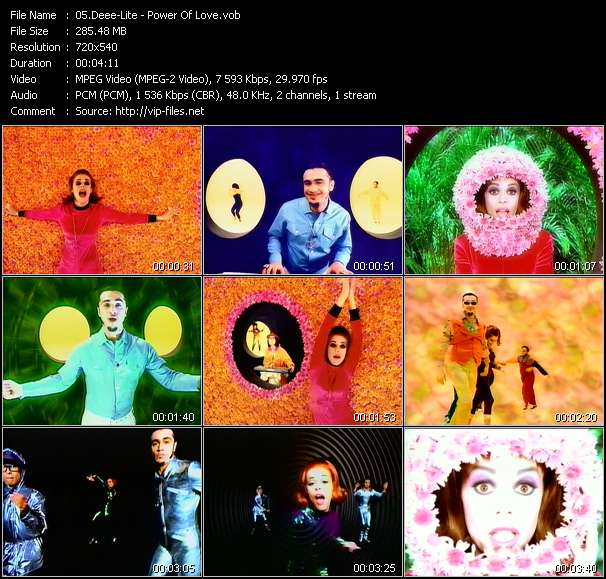 Screenshot of Music Video Deee-Lite - Power Of Love