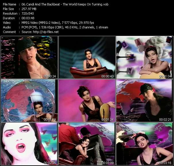 Screenshot of Music Video Candi And The Backbeat - The World Keeps On Turning