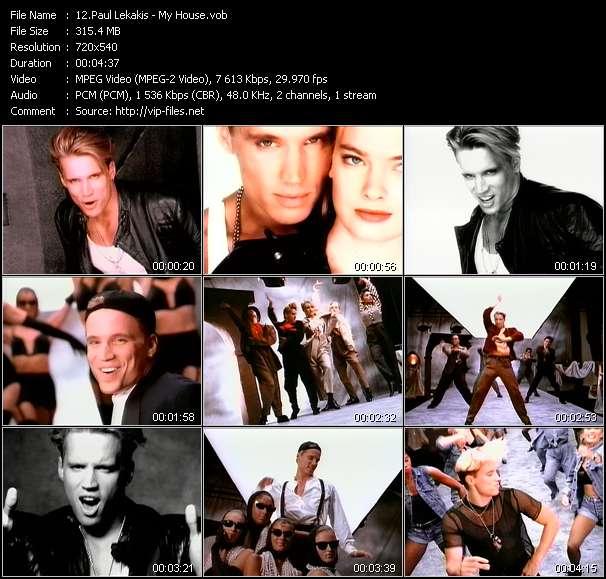 Screenshot of Music Video Paul Lekakis - My House