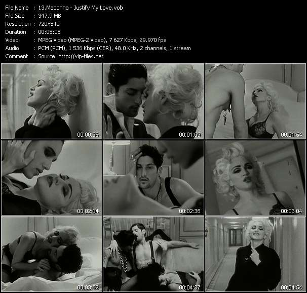 Screenshot of Music Video Madonna - Justify My Love