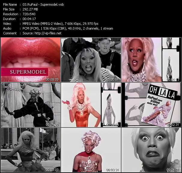 Screenshot of Music Video RuPaul - Supermodel