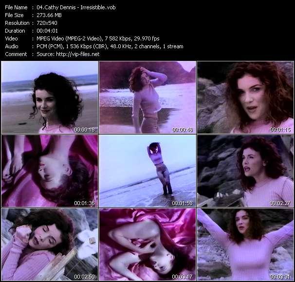 Screenshot of Music Video Cathy Dennis - Irresistible