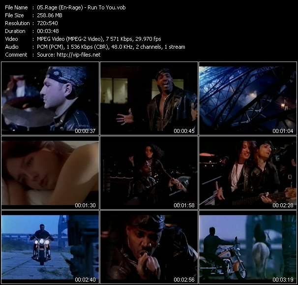 Screenshot of Music Video Rage (En-Rage) - Run To You