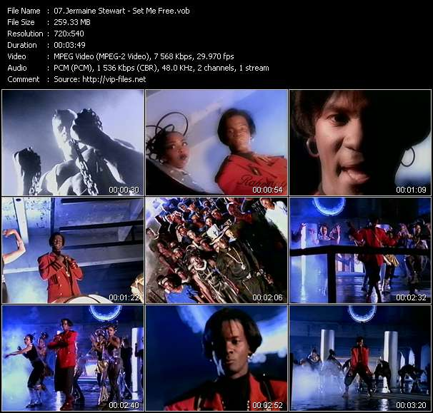 Screenshot of Music Video Jermaine Stewart - Set Me Free