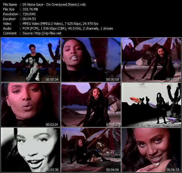 Screenshot of Music Video Nona Gaye - I'm Overjoyed (Remix)