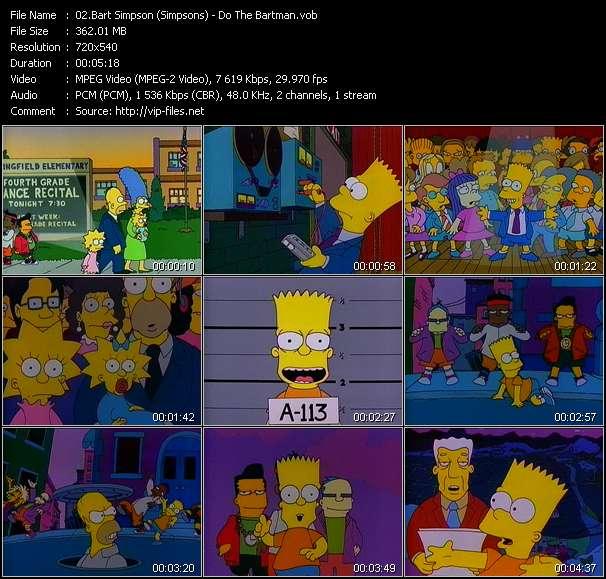 Bart Simpson (Simpsons) video vob