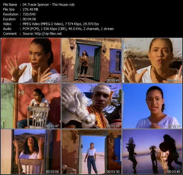 Screenshot of Music Video Tracie Spencer - This House