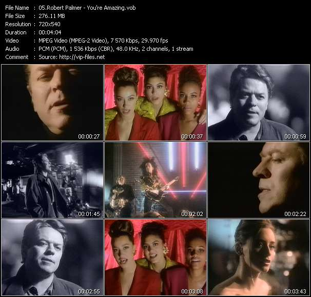 Robert Palmer video vob