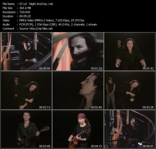 Screenshot of Music Video U2 - Night And Day