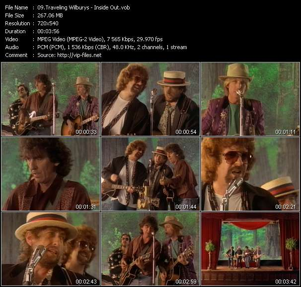 Screenshot of Music Video Traveling Wilburys - Inside Out