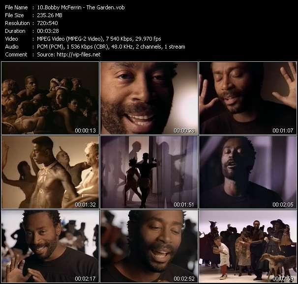 Screenshot of Music Video Bobby McFerrin - The Garden
