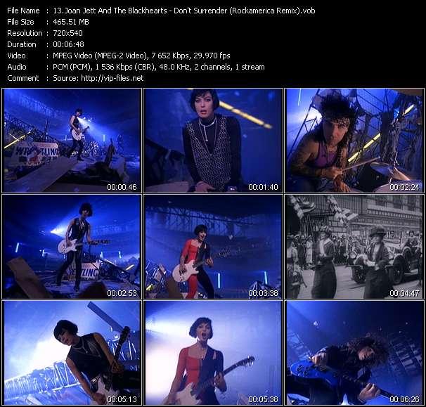 Joan Jett And The Blackhearts clips musicaux vob
