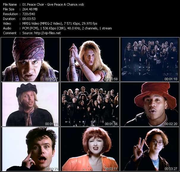 Screenshot of Music Video Peace Choir - Give Peace A Chance