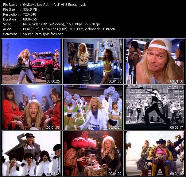Screenshot of Music Video David Lee Roth - A Lil' Ain't Enough