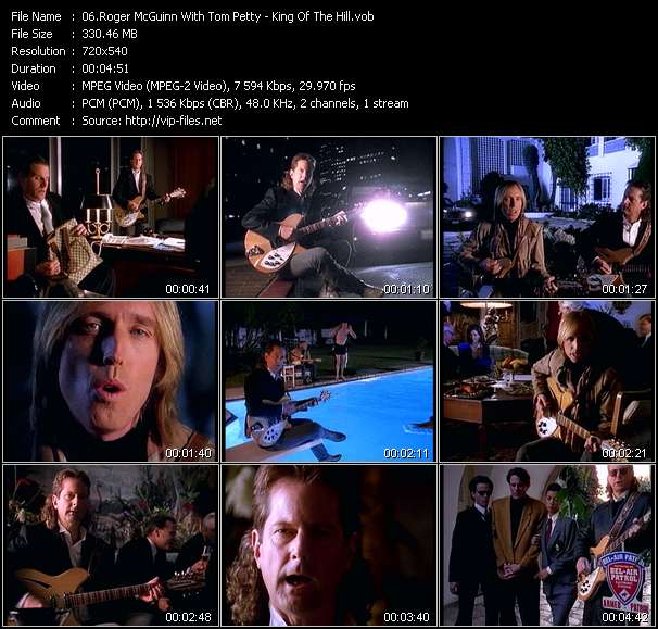 Screenshot of Music Video Roger McGuinn With Tom Petty - King Of The Hill