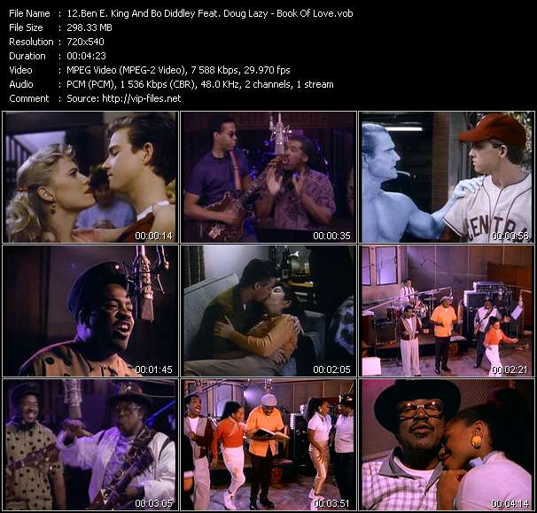 Screenshot of Music Video Ben E. King And Bo Diddley Feat. Doug Lazy - Book Of Love