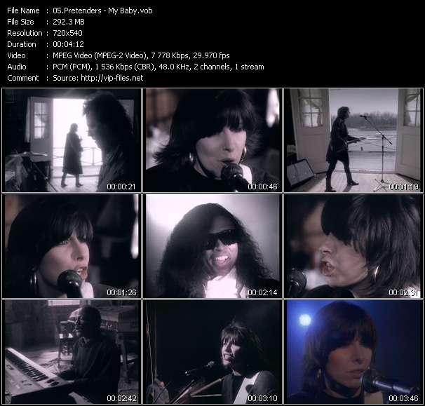 Screenshot of Music Video Pretenders - My Baby