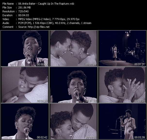 Screenshot of Music Video Anita Baker - Caught Up In The Rapture