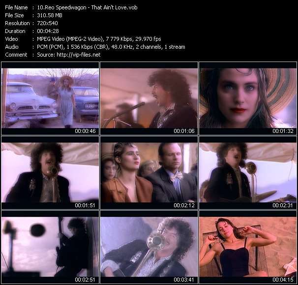 Screenshot of Music Video Reo Speedwagon - That Ain't Love