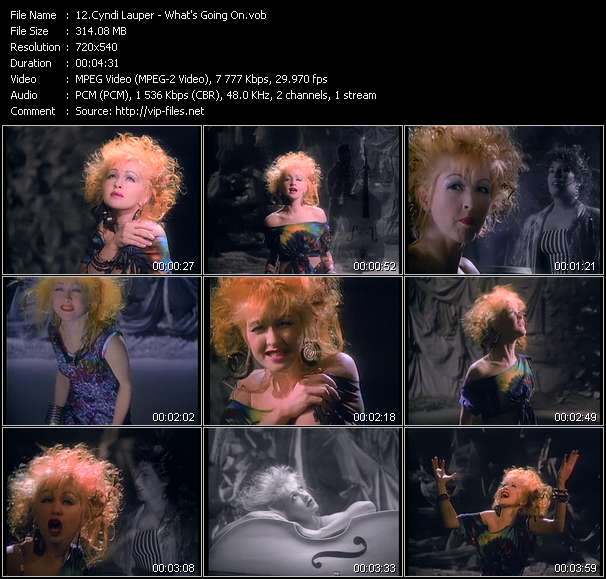 Screenshot of Music Video Cyndi Lauper - What's Going On