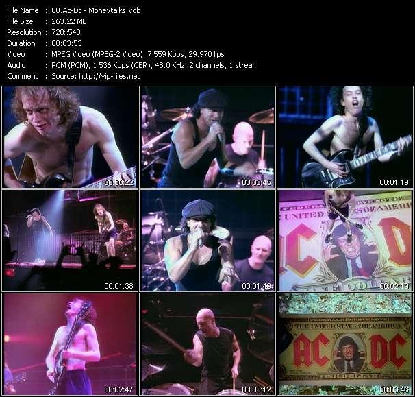 Screenshot of Music Video Ac-Dc - Moneytalks