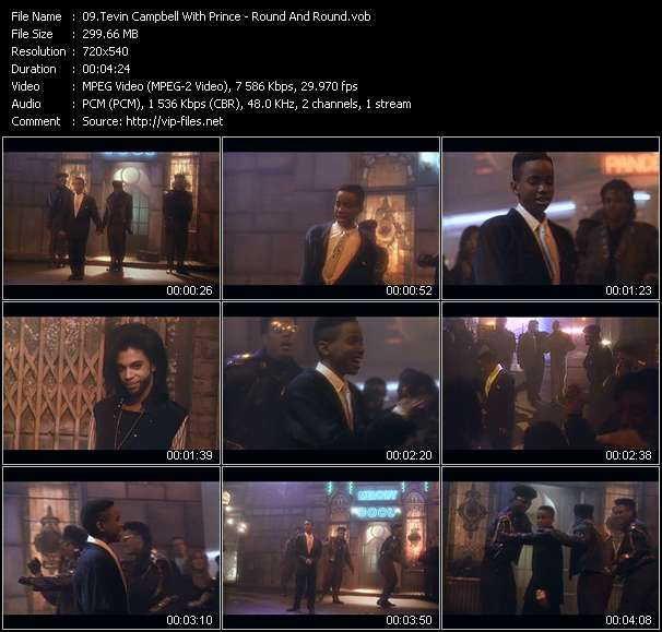 Screenshot of Music Video Tevin Campbell With Prince - Round And Round