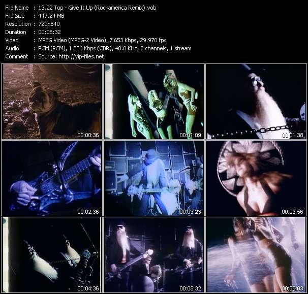 Screenshot of Music Video ZZ Top - Give It Up (Rockamerica Remix)