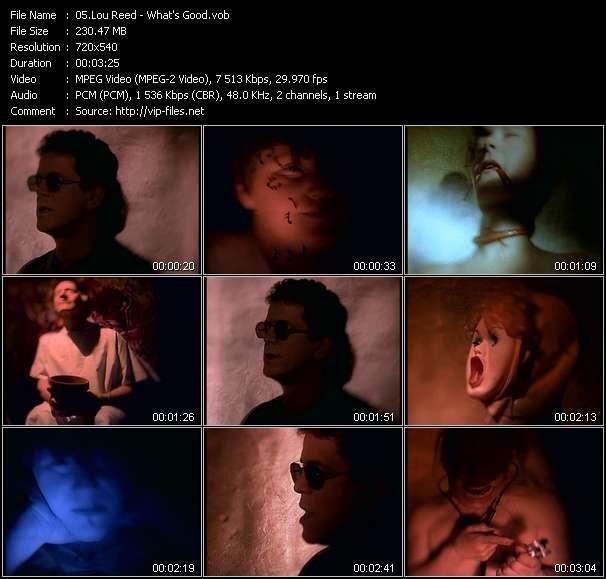 Lou Reed видеоклип vob