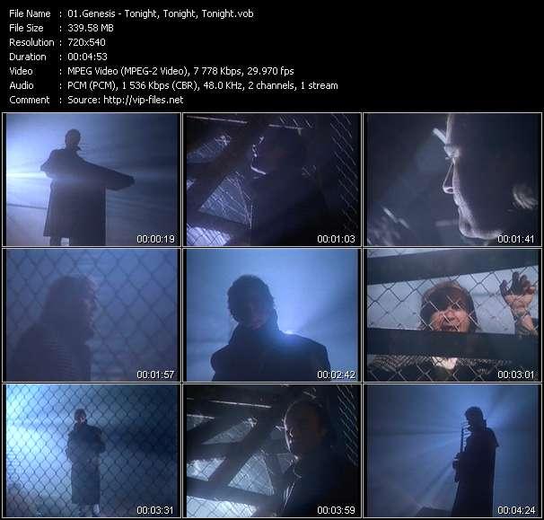 Screenshot of Music Video Genesis - Tonight, Tonight, Tonight