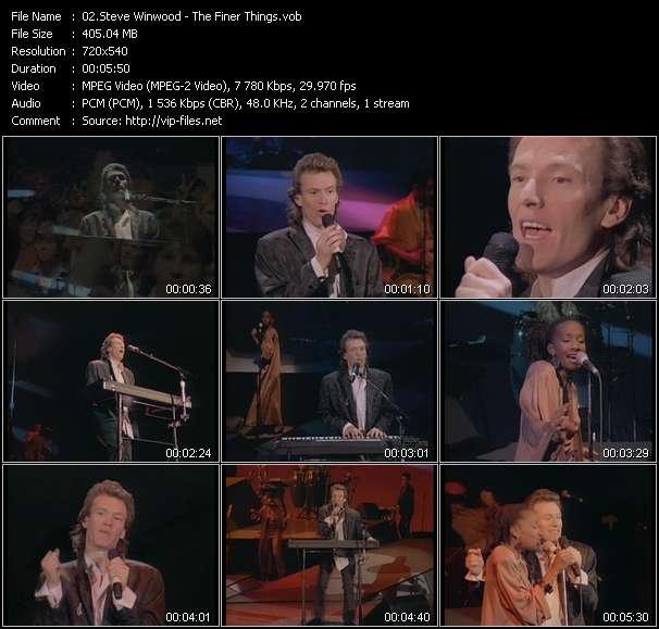 Screenshot of Music Video Steve Winwood - The Finer Things