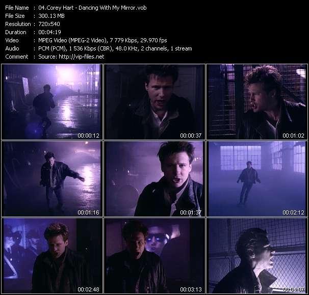 Screenshot of Music Video Corey Hart - Dancing With My Mirror