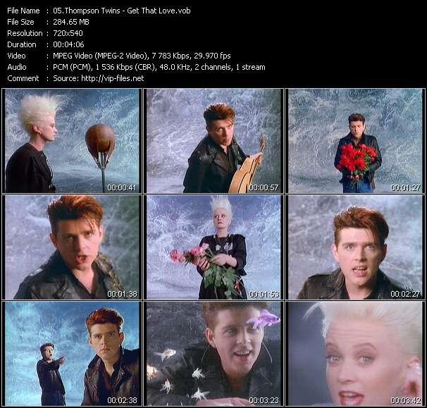 Screenshot of Music Video Thompson Twins - Get That Love