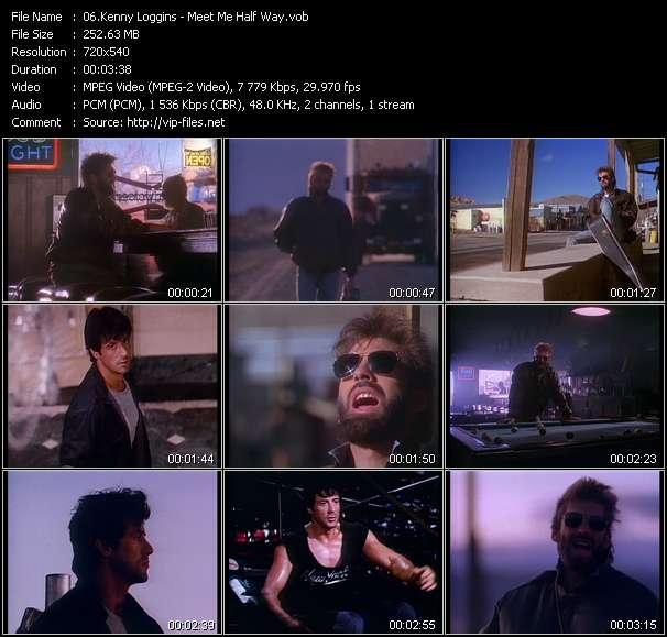Screenshot of Music Video Kenny Loggins - Meet Me Half Way