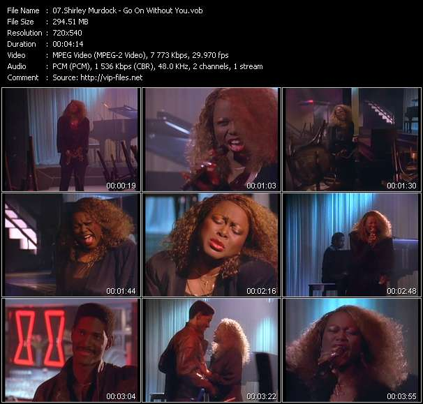 Screenshot of Music Video Shirley Murdock - Go On Without You