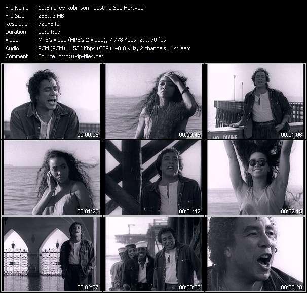Screenshot of Music Video Smokey Robinson - Just To See Her