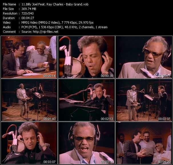 Screenshot of Music Video Billy Joel Feat. Ray Charles - Baby Grand