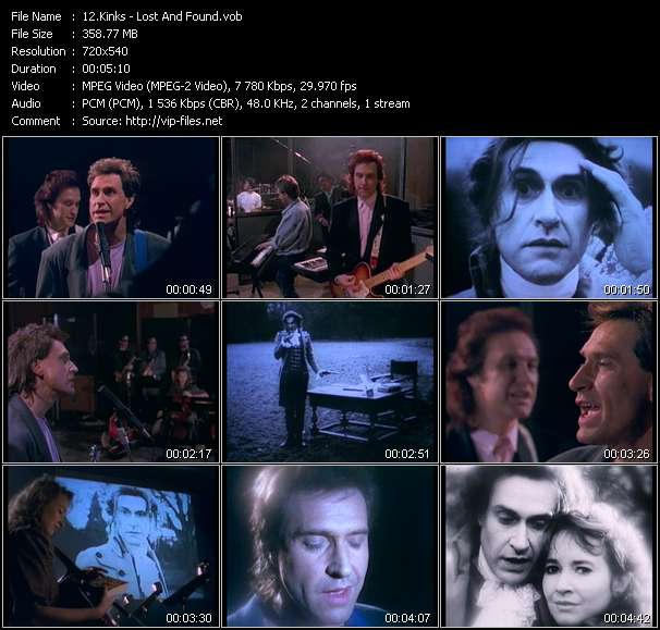 Screenshot of Music Video Kinks - Lost And Found