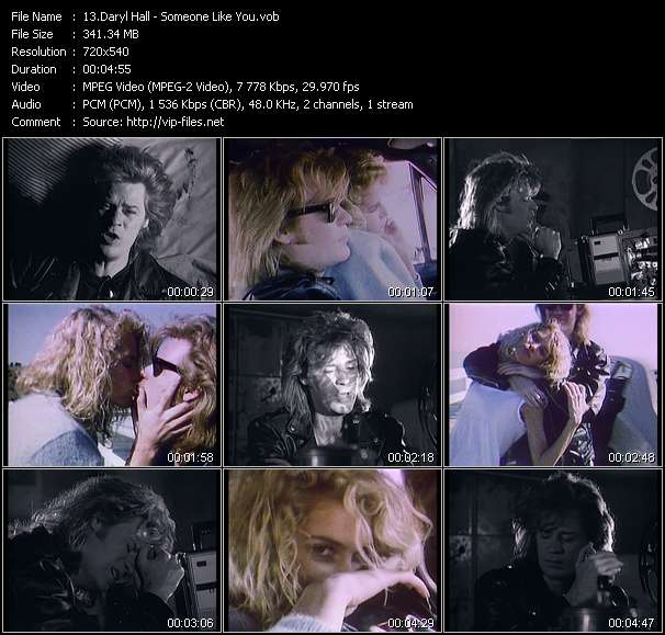 Screenshot of Music Video Daryl Hall - Someone Like You