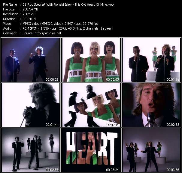Rod Stewart With Ronald Isley clips musicaux vob