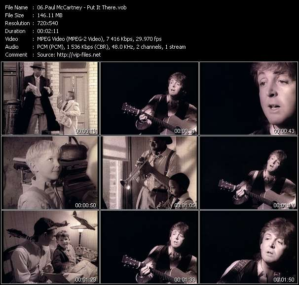 Paul McCartney clips musicaux vob