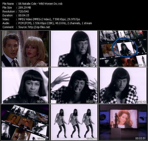 Natalie Cole video vob