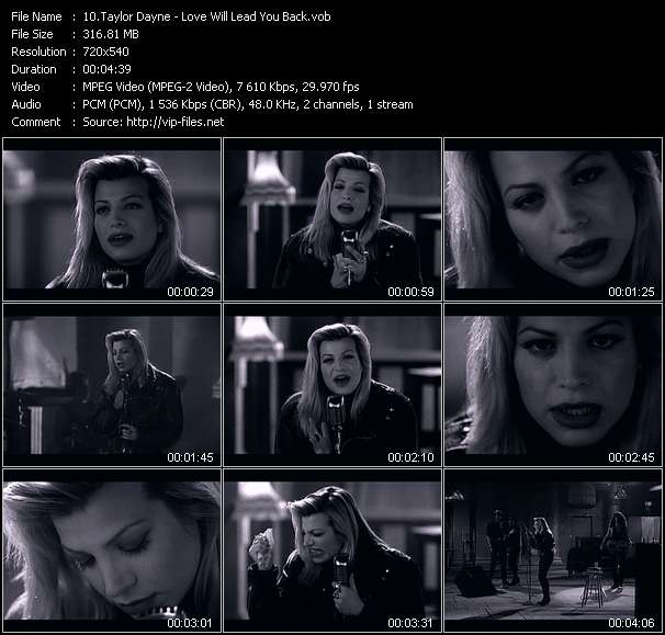 Taylor Dayne video vob