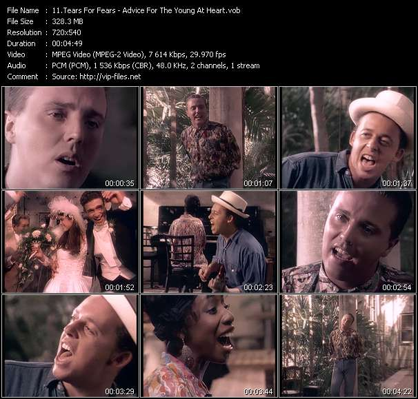 Tears For Fears video vob