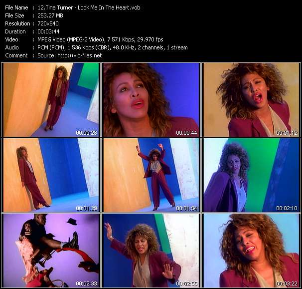 Tina Turner video vob