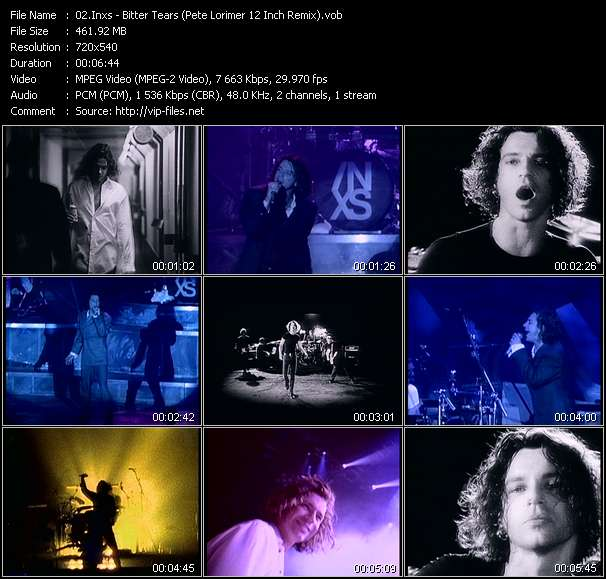 Screenshot of Music Video Inxs - Bitter Tears (Pete Lorimer 12 Inch Remix)
