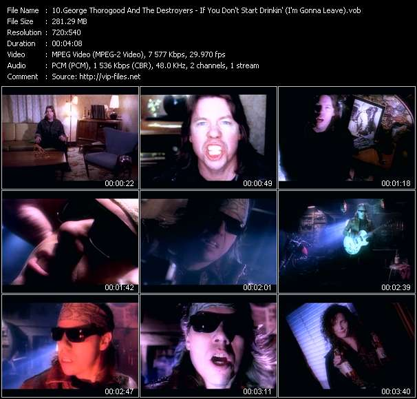 Screenshot of Music Video George Thorogood And The Destroyers - If You Don't Start Drinkin' (I'm Gonna Leave)