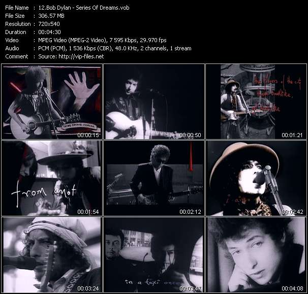 Screenshot of Music Video Bob Dylan - Series Of Dreams